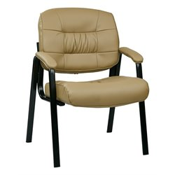 Office Star Work Smart Bonded Leather Guest Chair in Tan