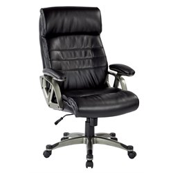 Executive Bonded Leather Chair in Black