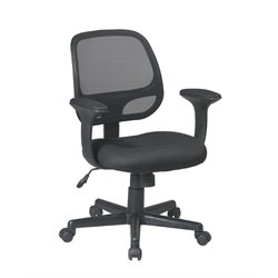 Office Star Work Smart Screen Back Task Chair in Black