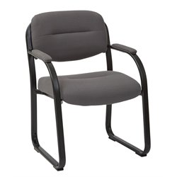 Office Star Work Smart Guest Chair in Charcoal