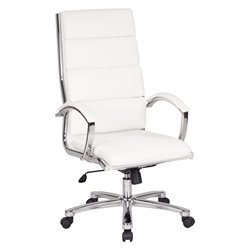 Office Star Work Smart High Back Executive Chair in White