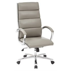 Office Star Work Smart High Back Executive Chair in Smoke