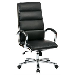Office Star Work Smart High Back Executive Chair in Black