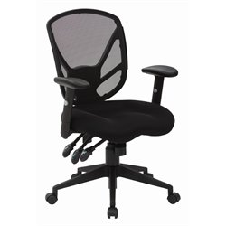 Office Star Work Smart Black Office Chair in Black