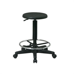 Self-Skinned Urethane Stool With Footrest