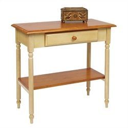 Office Star Country Cottage Foyer Table in Antique Yellow