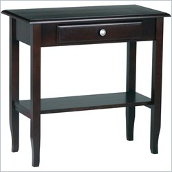 Office Star Merlot Foyer Table in Merlot