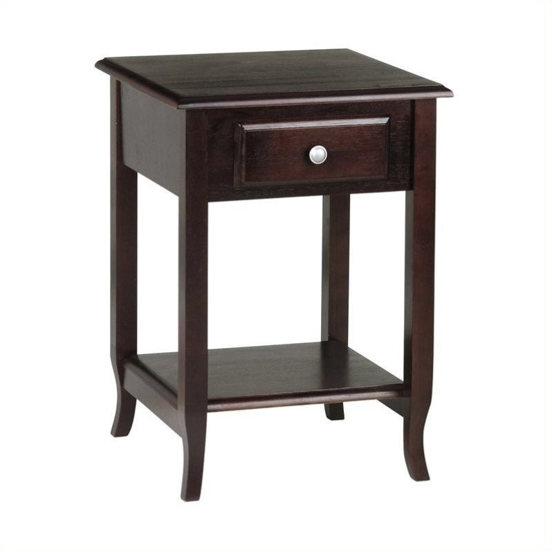Accent Table in Merlot