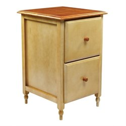 2 Drawer File Cabinet in Buttermilk Cherry