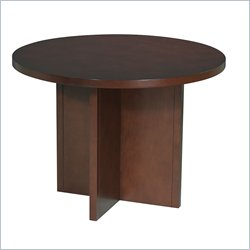 Office Star Pro-Line II Round 3.5' Conference Table with X-Shaped Base