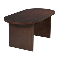 Office Star Pro-Line II Racetrack 6' Conference Table with Slab Base in Mahogany