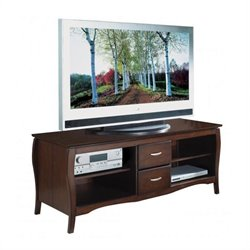 Office Star 60 Inch Plasma LCD Walnut TV Stand
