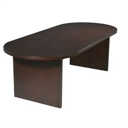 Office Star Pro-Line II Racetrack 8' Conference Table with Slab Base in Mahogany