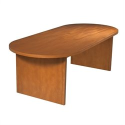 Office Star Pro-Line II Racetrack 8' Conference Table with Slab Base in Cherry
