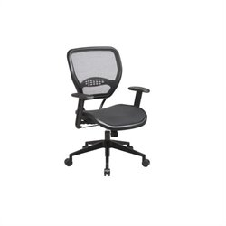 Office Star SPACE Collection: Air Grid Deluxe Task Office Chair in Black