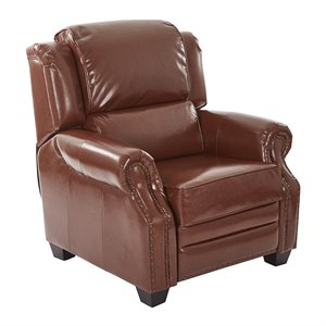 Office Star Inspired by Bassett Recliner in Saddle