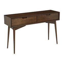Office Star OSP Designs Console Table in Walnut