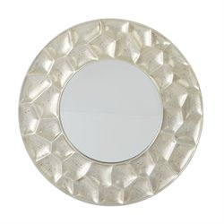 Office Star OSP Designs Beveled Wall Mirror in Antique
