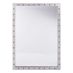 Office Star OSP Designs Beveled Wall Mirror in Silver