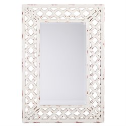 Office Star OSP Designs Vintage Wall Mirror in White