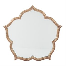 Office Star OSP Designs Blossom Wall Mirror in Silver