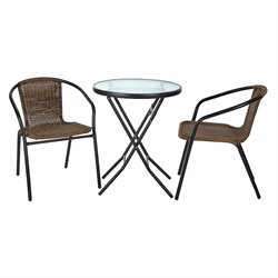 Office Star OSP Designs 3 Piece Patio Bistro Set-SW