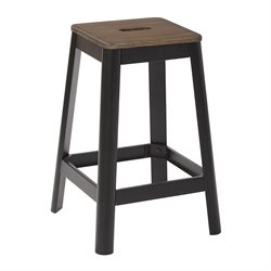 Office Star Work Smart and OSP Designs Barstool in Frosted Black