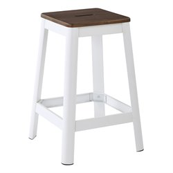 Office Star Work Smart and OSP Designs Barstool in Frosted White