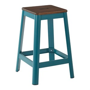 Office Star Work Smart and OSP Designs Barstool in Frosted Teal-JJ