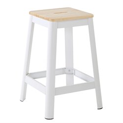 Office Star Work Smart and OSP Designs Barstool in Frosted White-NN