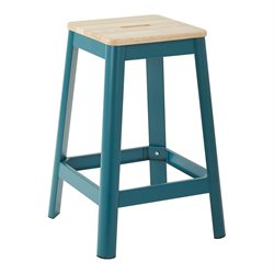 Office Star Work Smart and OSP Designs Barstool in Frosted Teal-JO