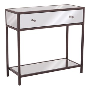 Office Star OSP Designs Marquis Console Table in Mirrored