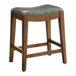 Office Star OSP Designs Counter Stool in Pewter-ZZ