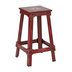 Office Star Work Smart and OSP Designs Bar Stool in Antique Red