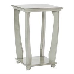 Office Star OSP Designs Accent Table in Antique Gray
