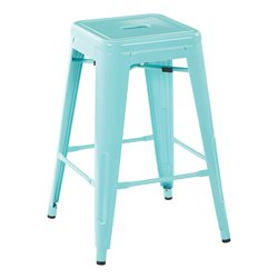Office Star OSP Designs Steel Backless Counter Stool (Set of 2)