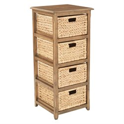 Office Star OSP Designs 4 Drawer Storage Unit in Distressed Toffee