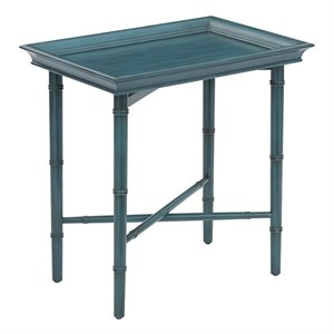 Office Star OSP Designs Serving Accent Table in Blue