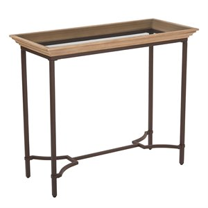 Office Star OSP Designs Console Table in Light Pine