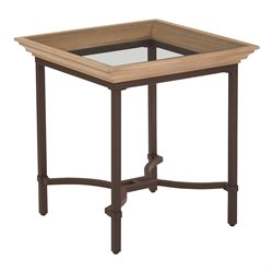 Office Star OSP Designs Tacoma Accent Table in Light Pine