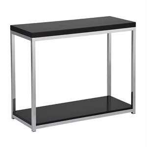 Office Star Work Smart and Ave Six Console Table in Black and Chrome