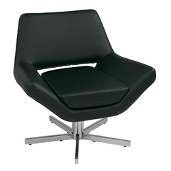 Office Star Ave Six Modern Guest Chair in Black