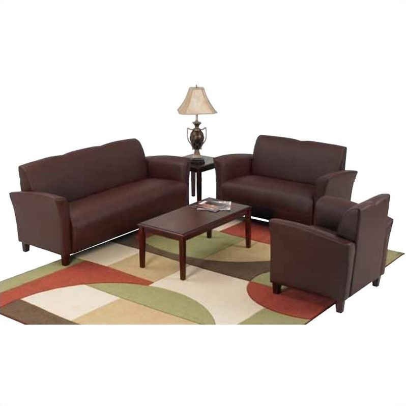 Office Star Furniture Breeze Eco Leather Love Seat