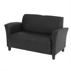 Office Star Furniture Breeze Eco Leather Love Seat - Black
