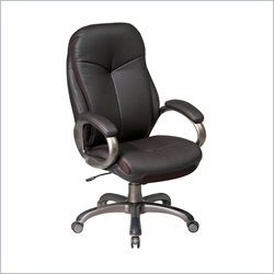 Office Star ECH Series High Back Eco Leather Chair in Espresso