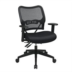 Office Star 13 Series Office Chair with AirGrid Back and Mesh Seat in Black