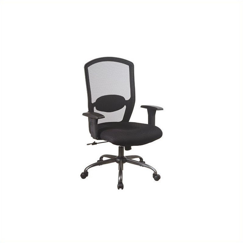 Office Star Screen Back Mesh Plastic Executive Office Chair with Arms
