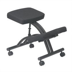 Office Star Ergonomic Kneeling Office Chair with Memory Foam in Black