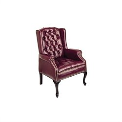 Office Star Traditional Queen Ann Style Chair in Oxblood