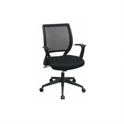 Office Star Screen Back Office Chair with Mesh Seat and Fixed Designer Arms